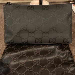 Gucci Black clutch/make up/toiletry bag Authentic